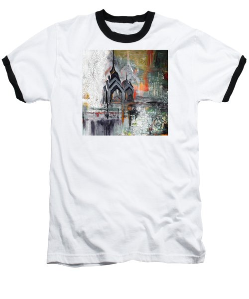 One Liberty Place And Two Liberty Place 229 3 Baseball T-Shirt by Mawra Tahreem