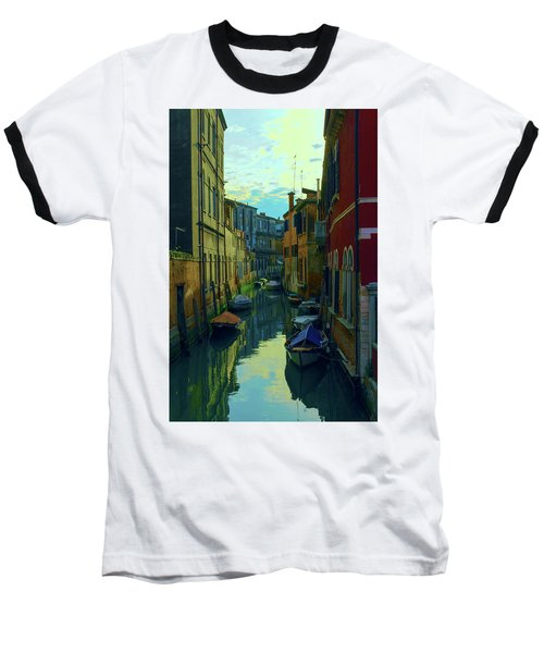 one of the many Venetian canals at the end of a Sunny summer day Baseball T-Shirt
