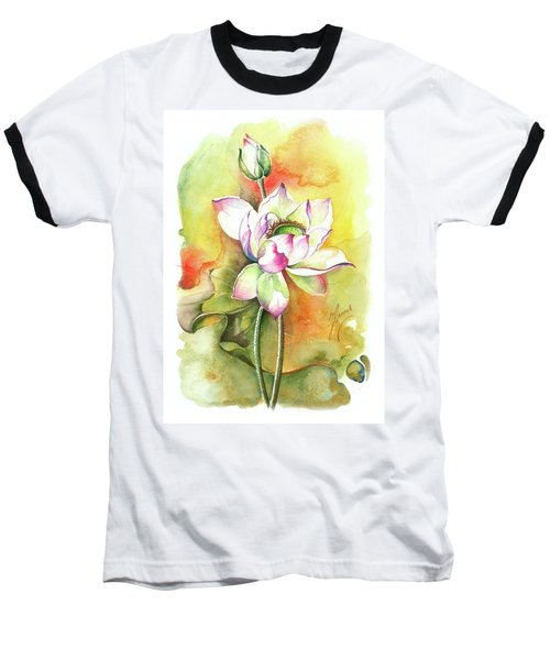 Baseball T-Shirt featuring the painting One Sunny Day by Anna Ewa Miarczynska