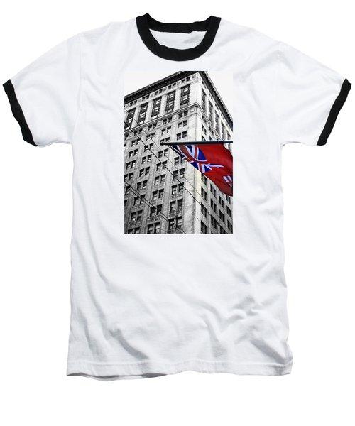 Ontario Flag Baseball T-Shirt by Valentino Visentini
