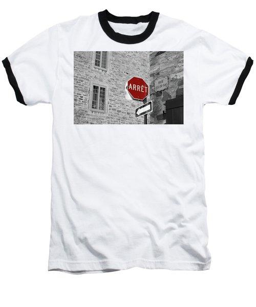 Optical Illusion, Quebec City Baseball T-Shirt by Brooke T Ryan
