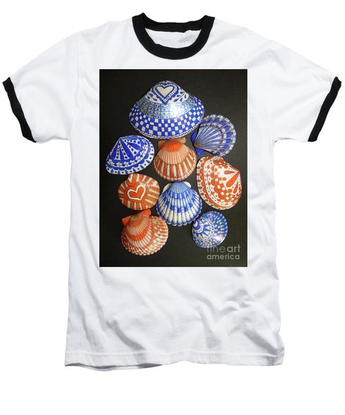 Orange And Blue Sharpie Shells Baseball T-Shirt