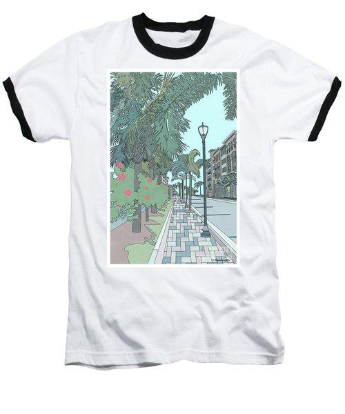 Baseball T-Shirt featuring the digital art Orange Avenue by Megan Dirsa-DuBois
