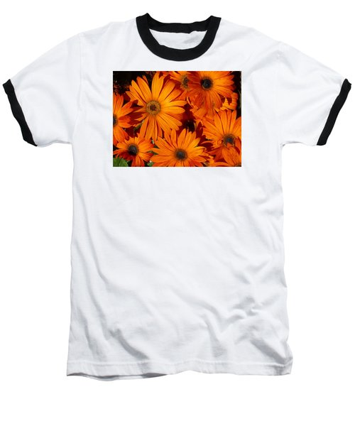 Orange Burst Baseball T-Shirt