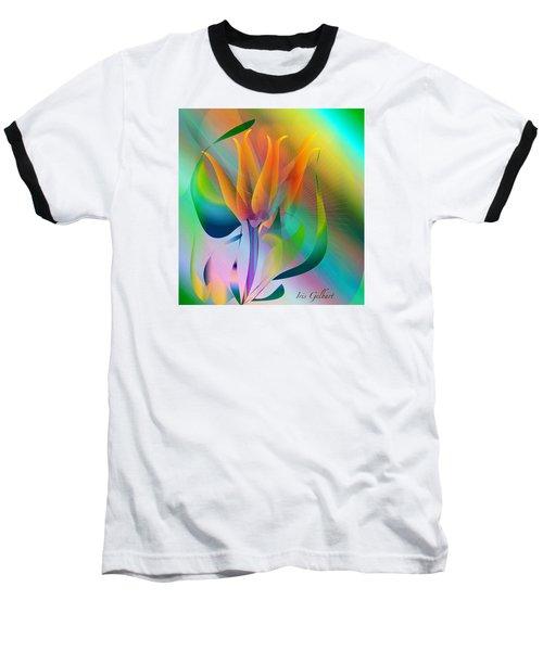 Orange Flower Baseball T-Shirt