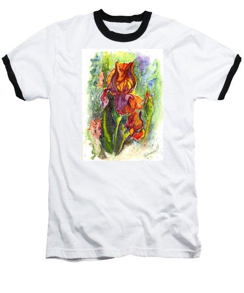Baseball T-Shirt featuring the painting Orange Ice by Carol Wisniewski