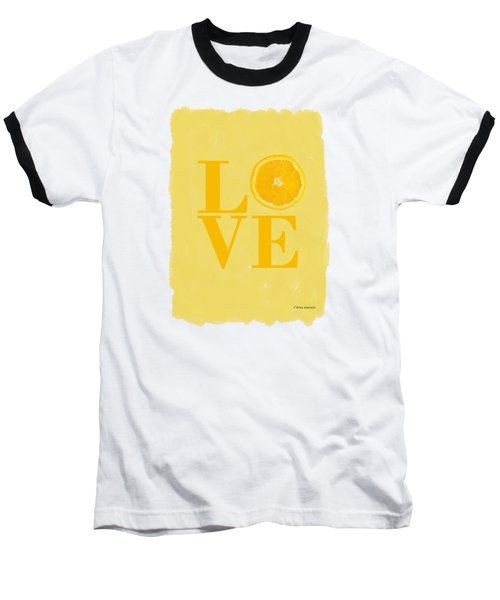 Orange Baseball T-Shirt by Mark Rogan