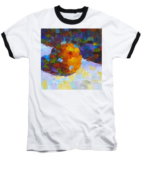 Orange Mosaic #3 Baseball T-Shirt