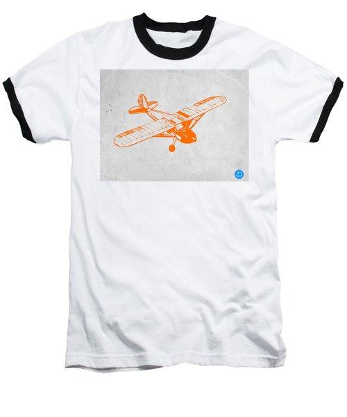 Orange Plane 2 Baseball T-Shirt