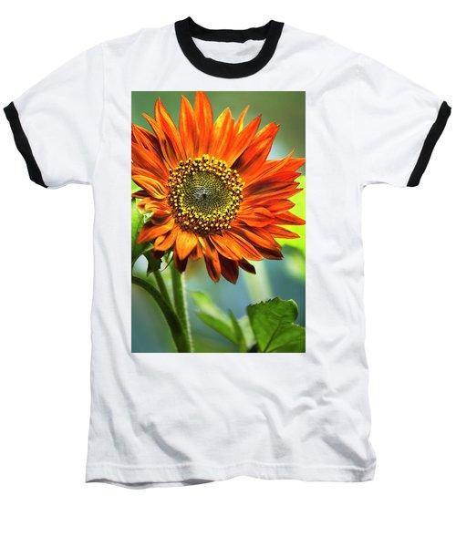Orange Sunflower Baseball T-Shirt