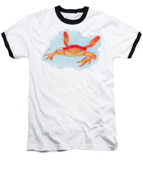 Orange Swimmer Crab Baseball T-Shirt