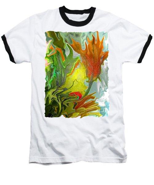 Orange Tulip Baseball T-Shirt by Kathy Moll