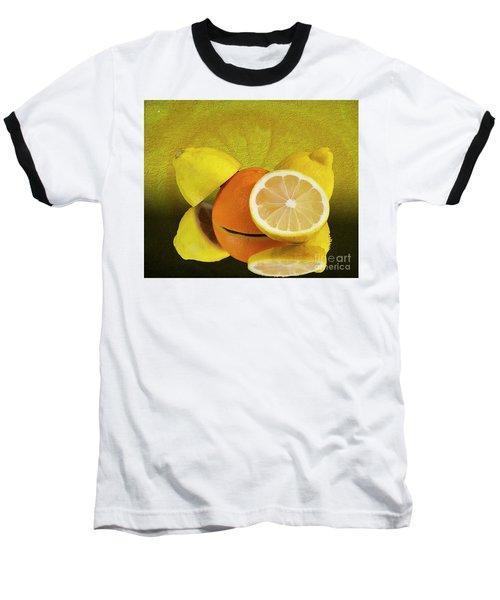 Oranges And Lemons Baseball T-Shirt by Shirley Mangini