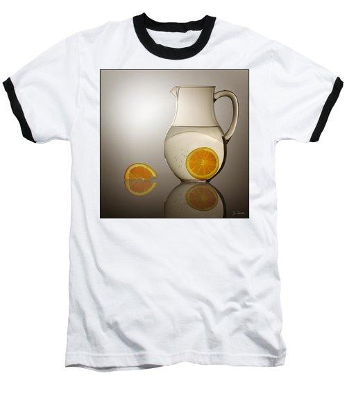 Oranges And Water Pitcher Baseball T-Shirt by Joe Bonita