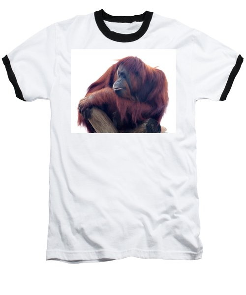 Baseball T-Shirt featuring the photograph Orangutan - Color Version by Lana Trussell
