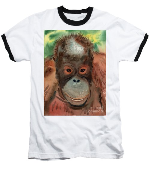 Orangutan Baseball T-Shirt by Donald Maier