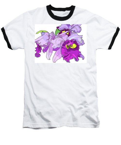 Orchid Cluster Baseball T-Shirt by Jamie Downs