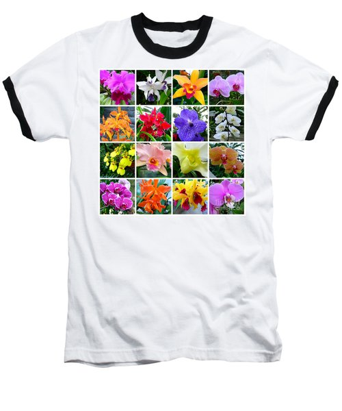 Orchid Collage Baseball T-Shirt