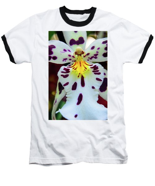 Orchid Cross Baseball T-Shirt