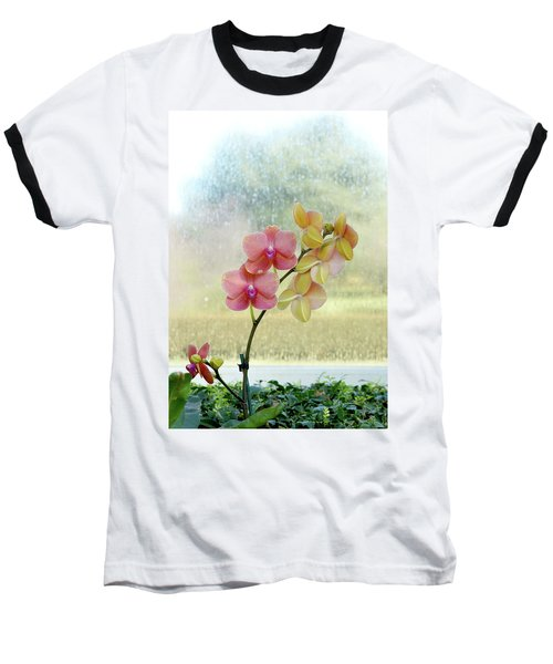 Orchid In Portrait Baseball T-Shirt