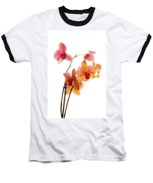Orchids Baseball T-Shirt by Mark Alder