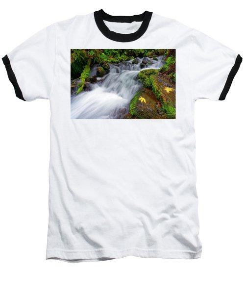 Baseball T-Shirt featuring the photograph Oregon Cascade by Jonathan Davison
