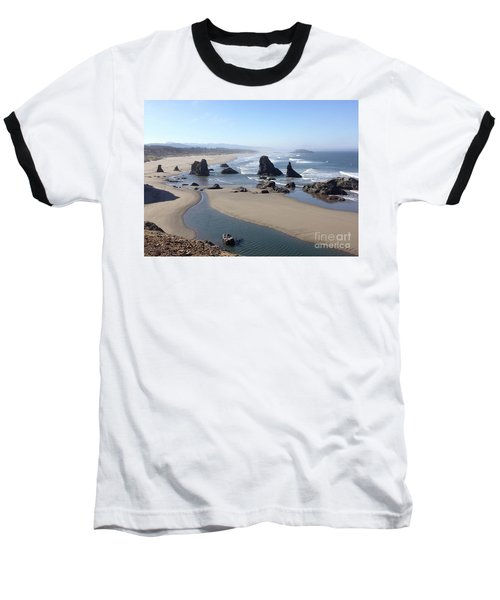 Oregon Coast Sea Stacks Baseball T-Shirt