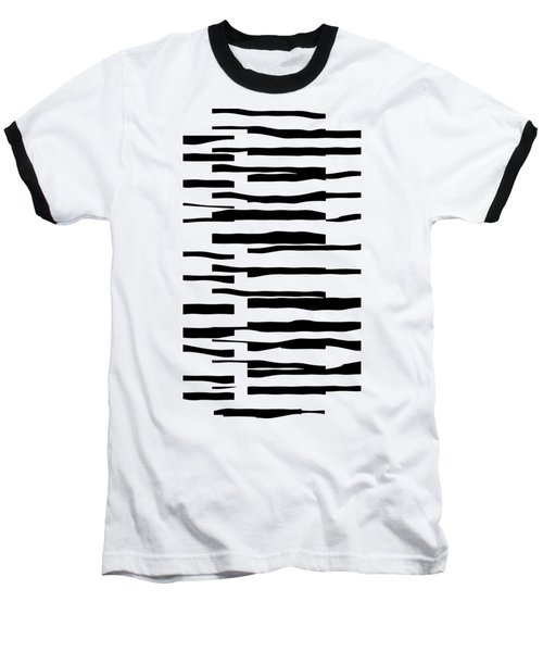 Organic No 13 Black And White Line Abstract Baseball T-Shirt