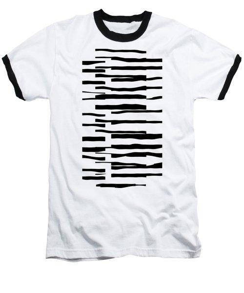 Organic No 13 Black And White Line Abstract Baseball T-Shirt