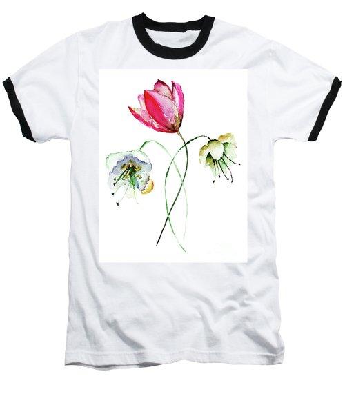Original Summer Flowers Baseball T-Shirt
