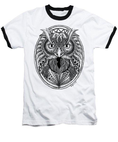 Ornate Owl Baseball T-Shirt