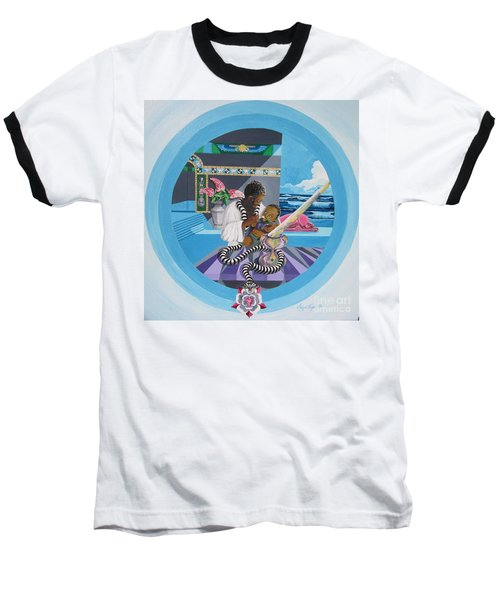 Blaa Kattproduksjoner             Osiris Feeding His Son Horus Baseball T-Shirt