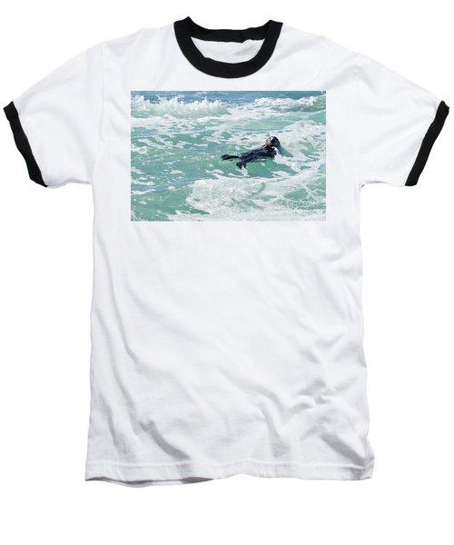 Otter At Montana De Oro Baseball T-Shirt by Michael Rock