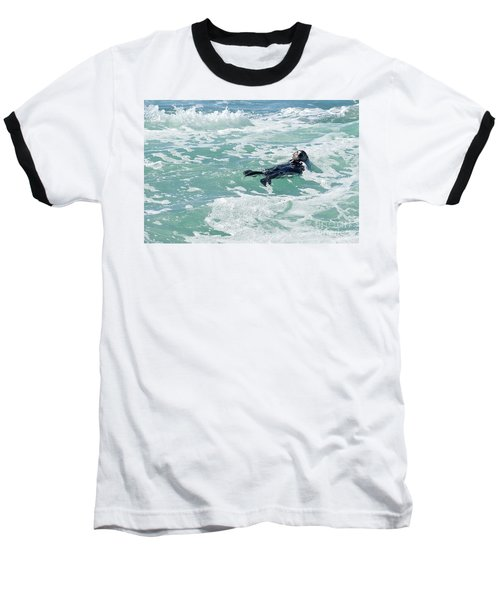 Otter At Montana De Oro Baseball T-Shirt