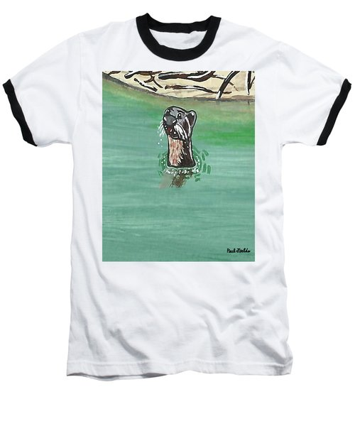 Otter In Amazon River Baseball T-Shirt