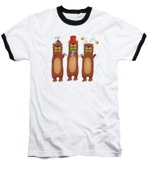 Otter Party And You Are Invited Baseball T-Shirt by Little Bunny Sunshine