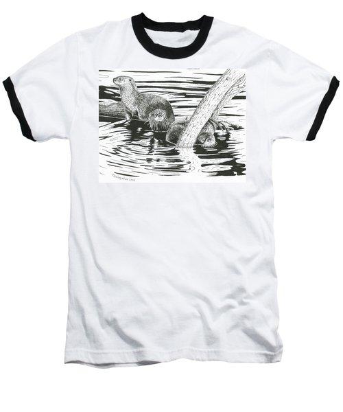 Otters Three Baseball T-Shirt