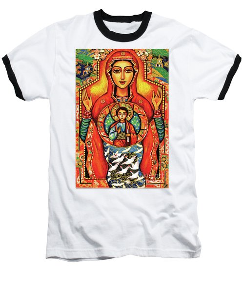 Baseball T-Shirt featuring the painting Our Lady Of The Sign by Eva Campbell