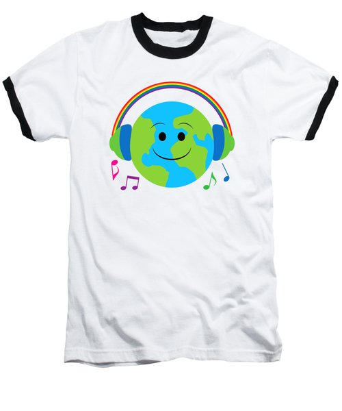 Our Musical World Baseball T-Shirt by A