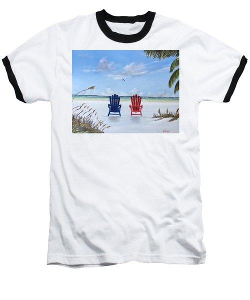 Our Spot On Siesta Key Baseball T-Shirt by Lloyd Dobson