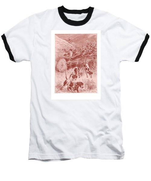 Baseball T-Shirt featuring the drawing Out Foxing by David Davies