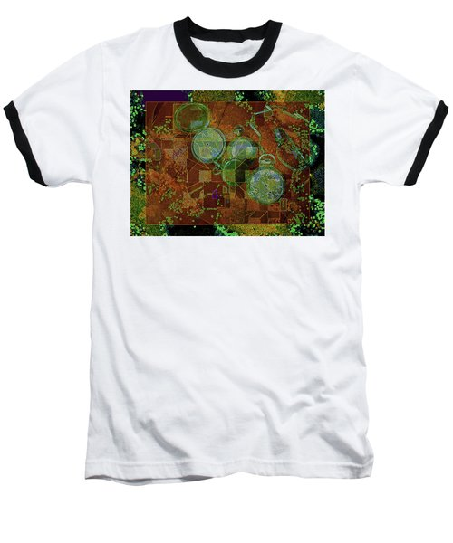 Baseball T-Shirt featuring the mixed media Out Of Time 5  by Lynda Lehmann