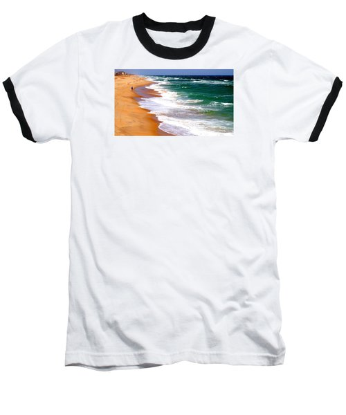 Outer Banks Beach North Carolina Baseball T-Shirt