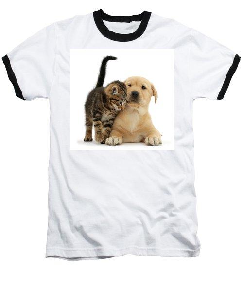 Over Friendly Kitten Baseball T-Shirt