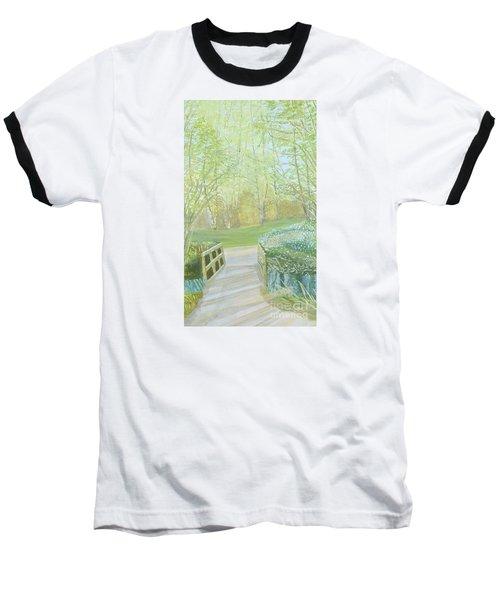 Over The Bridge Baseball T-Shirt by Joanne Perkins