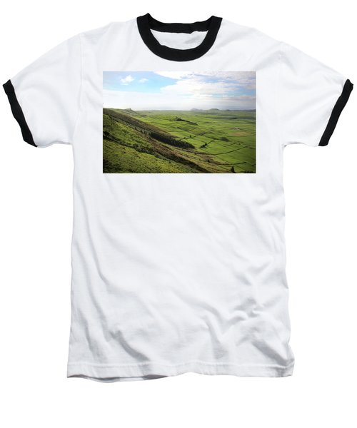 Over The Rim On Terceira Island, The Azores Baseball T-Shirt by Kelly Hazel