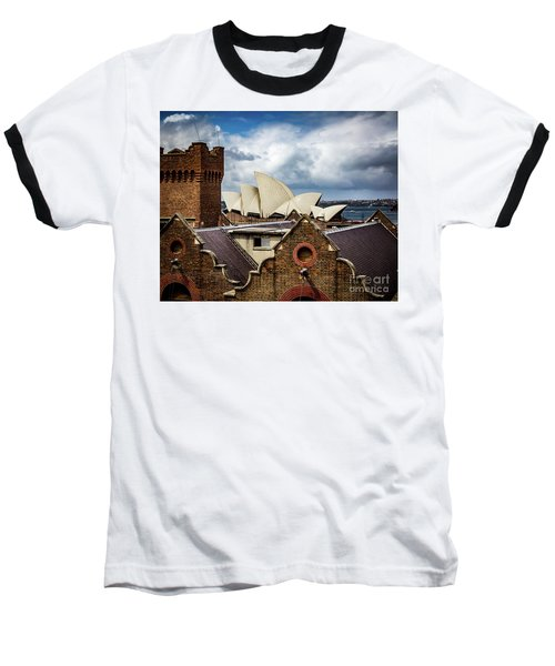 Baseball T-Shirt featuring the photograph Over The Roof Tops by Perry Webster