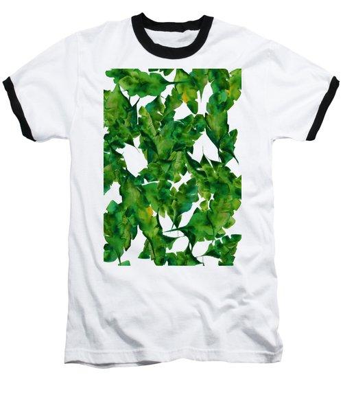 Overlapping Leaves Baseball T-Shirt