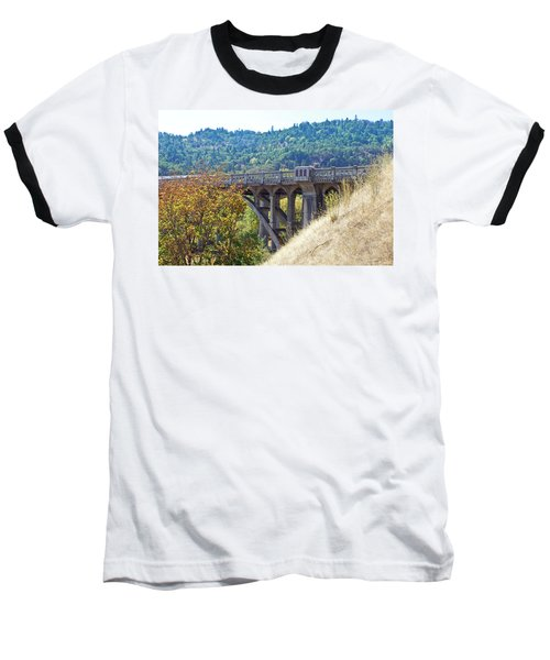 Overpass Underpinnings Baseball T-Shirt by Adria Trail