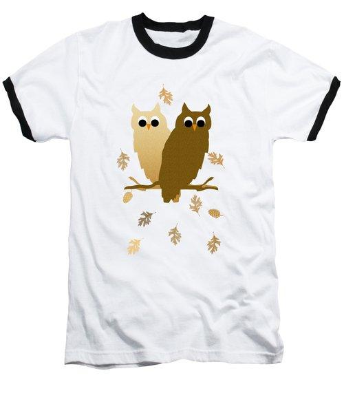 Owl Pattern Baseball T-Shirt